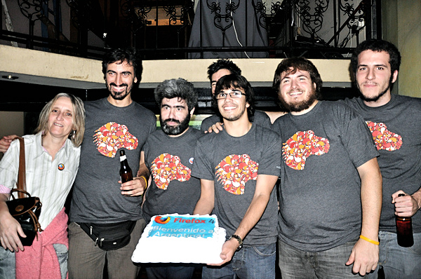 The Argentine community at the Firefox 4 launch party in 2011.