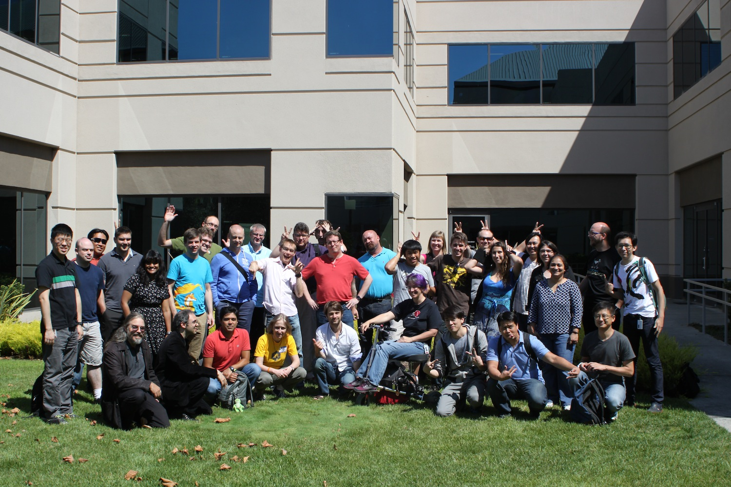 The Mozilla QA team at a Work Week in July 2014.