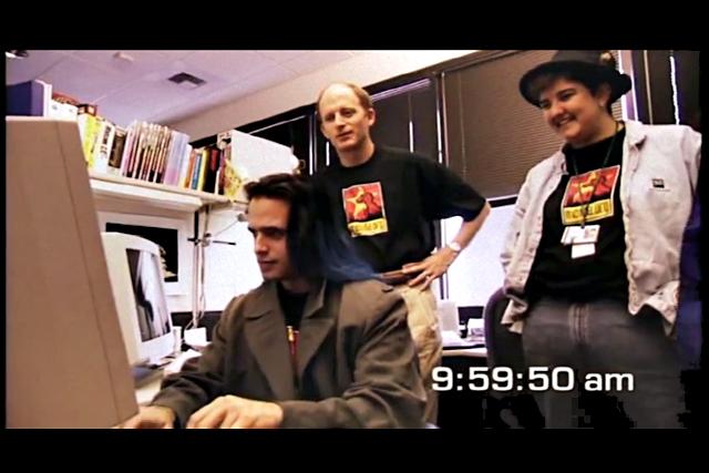 Jamie Zawinsky, Bob Lisbonne, Tara Hernandez, March 31, 1998.