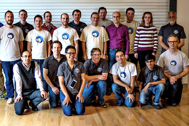 The Thunderbird team gets together at the Toronto Summit in 2014.
